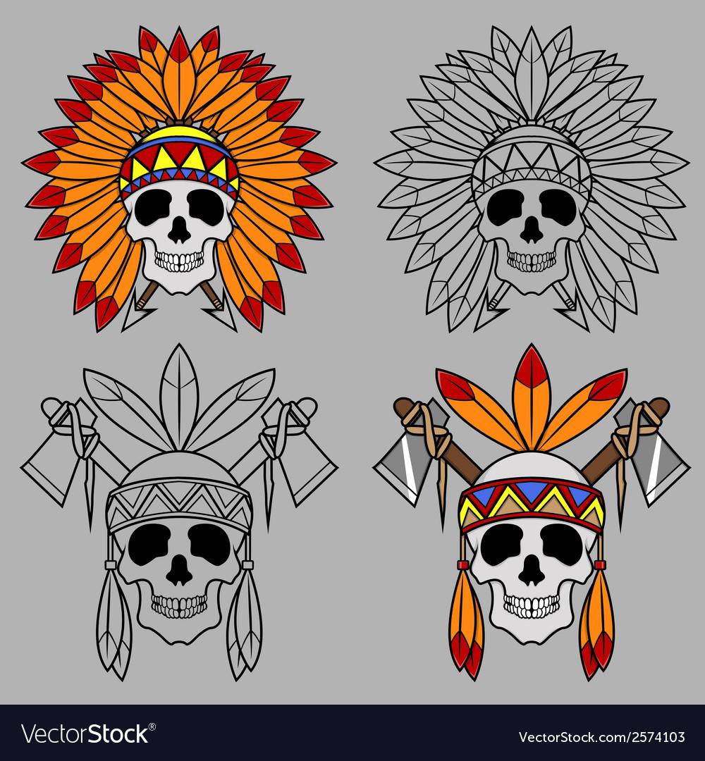 Native America Skull Mascot