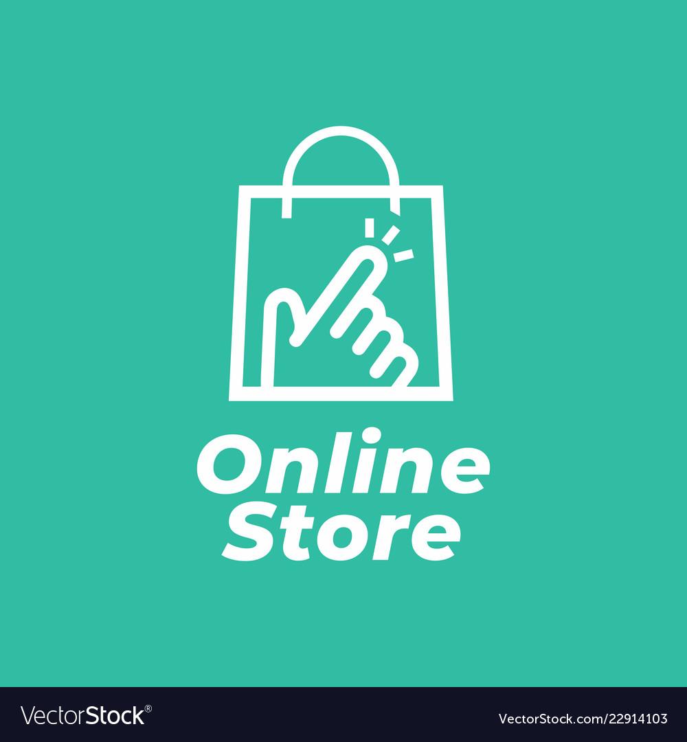 Online shop logo for business
