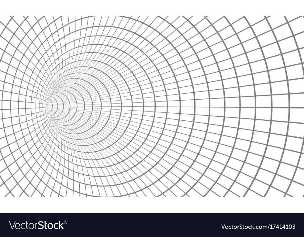Spiral tunnel wireframe technology vortex tunnel