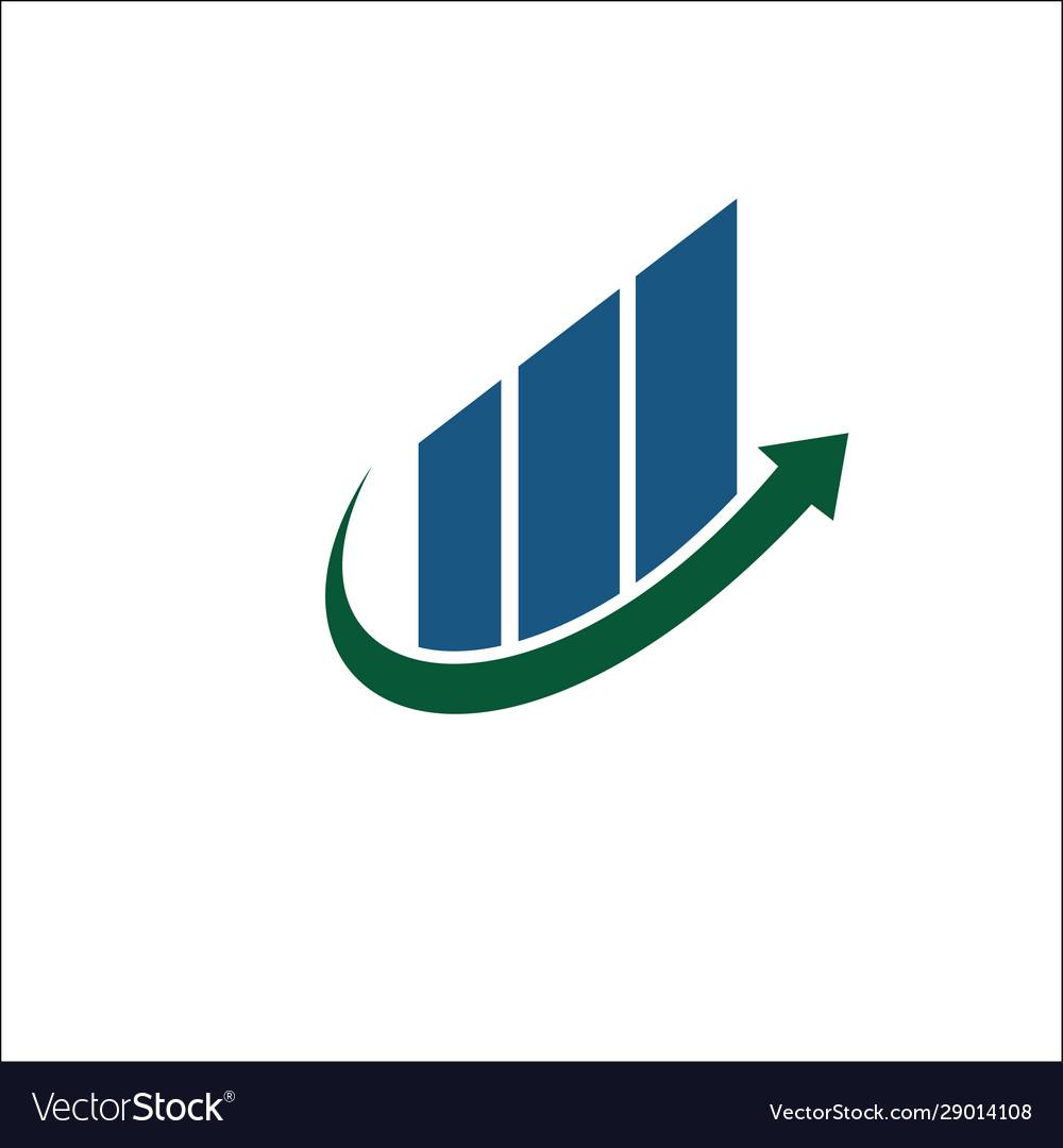 Arrow growth logo design financial