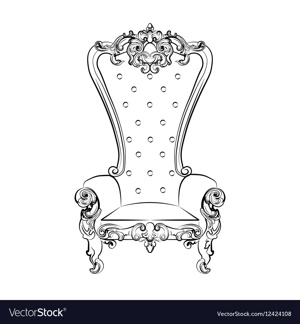 картинки карандашом трон