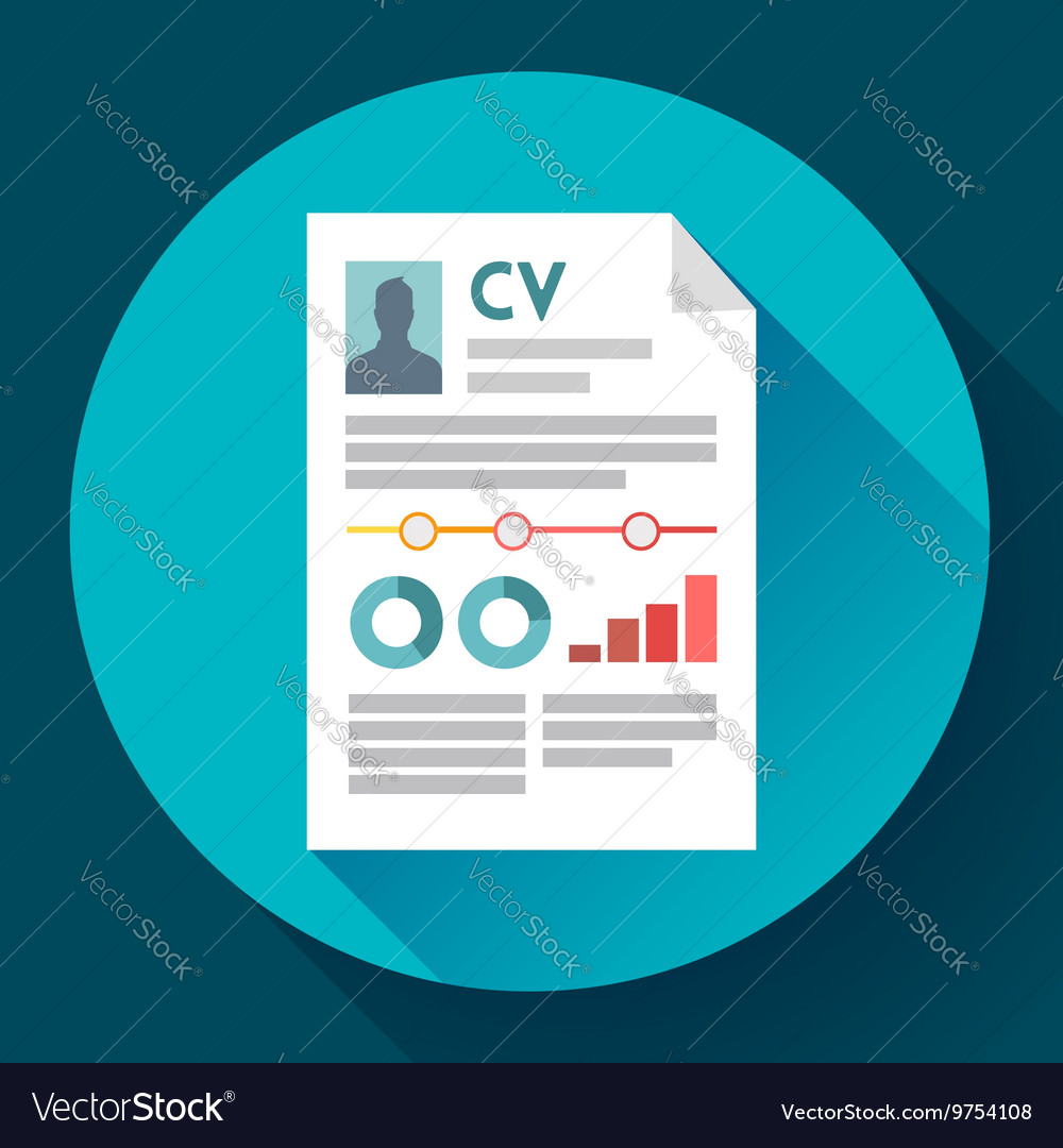 cv resume icon modern flat 20 style royalty free vector