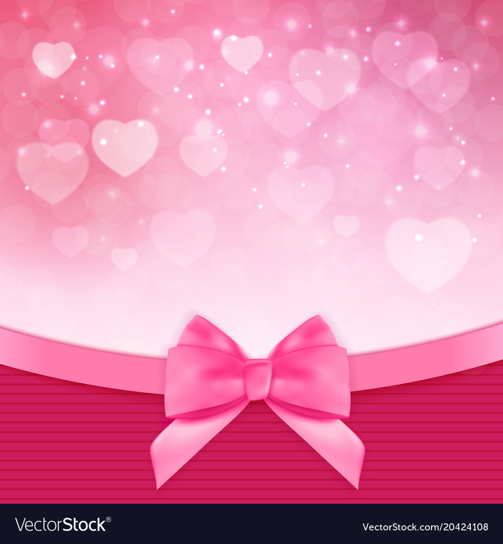 Decorative pink bow background