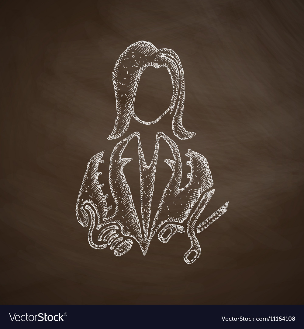 Dressmaker icon vector image