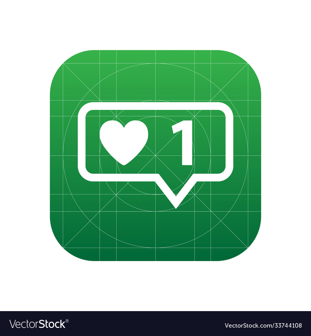 Like counter notification icon sign icon