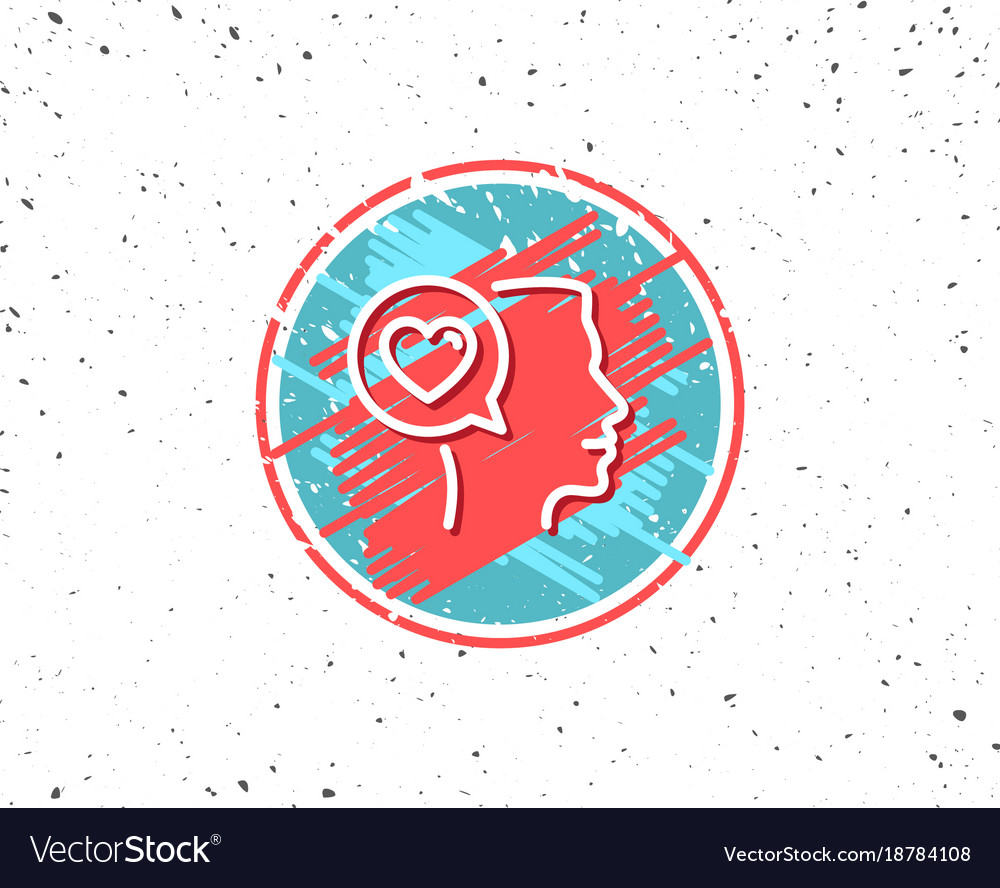 Love chat line icon heart symbol vector image