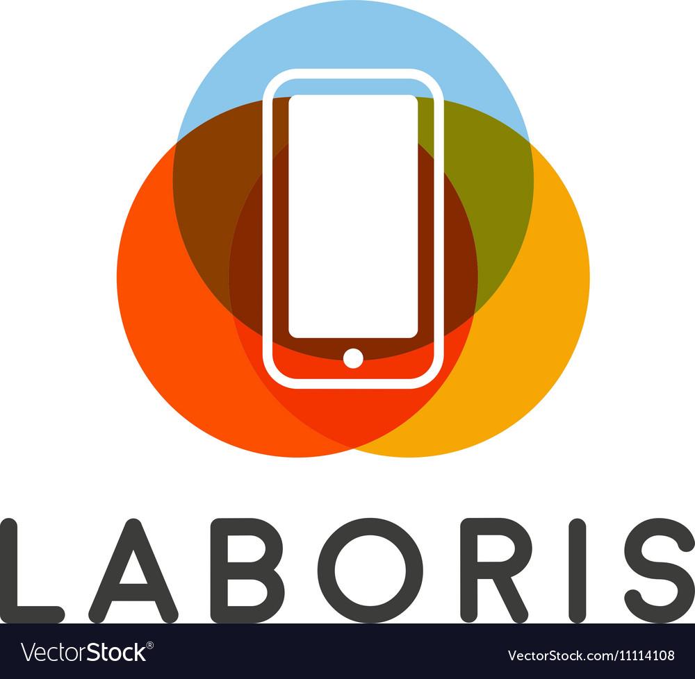 Mobile phone shop Logo design template vector image