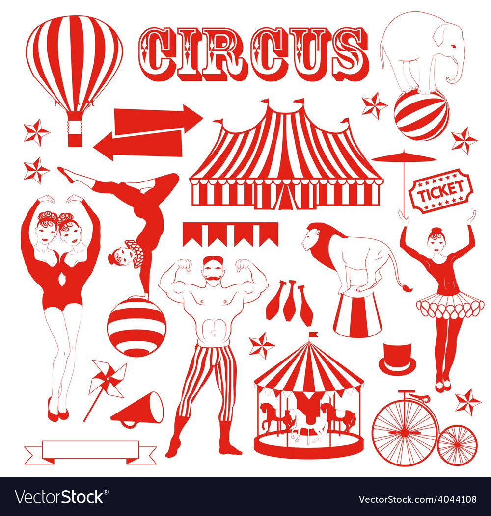 pattern of the circus royalty free vector image rh vectorstock com circle vector icons cirque victory park