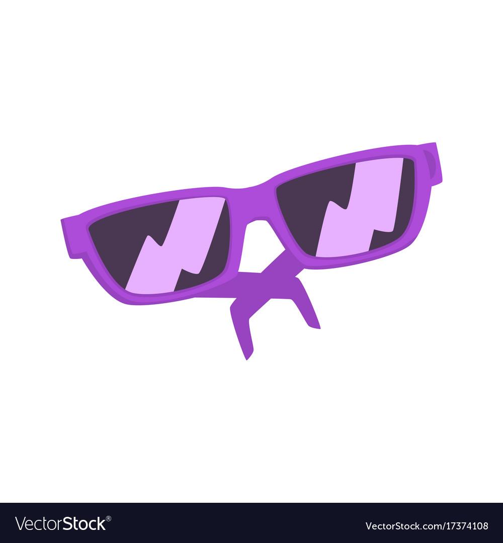 Purple sunglasses cartoon