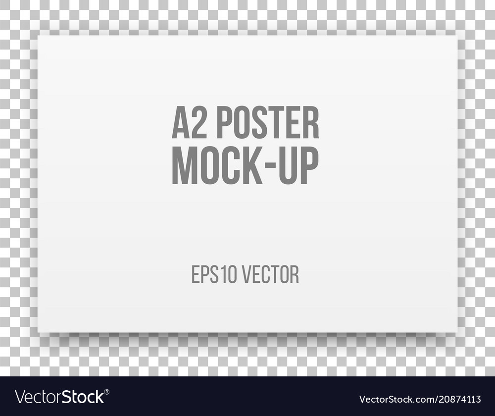 A2 white poster mock-up