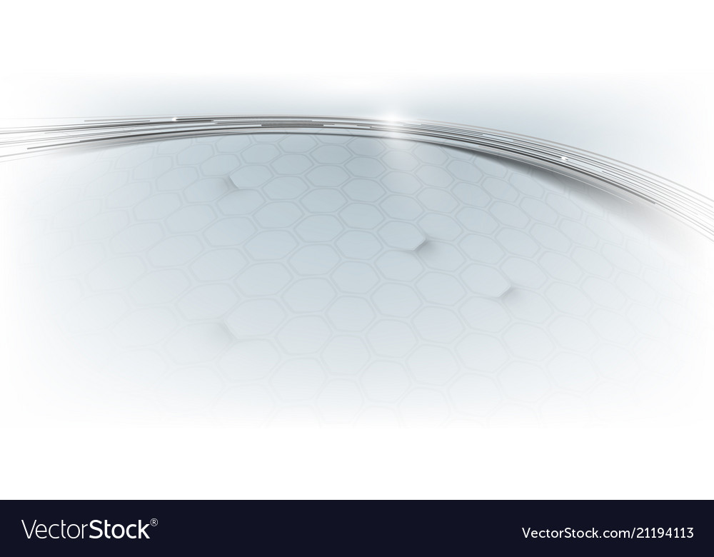 Abstract lines curve and hexagons background