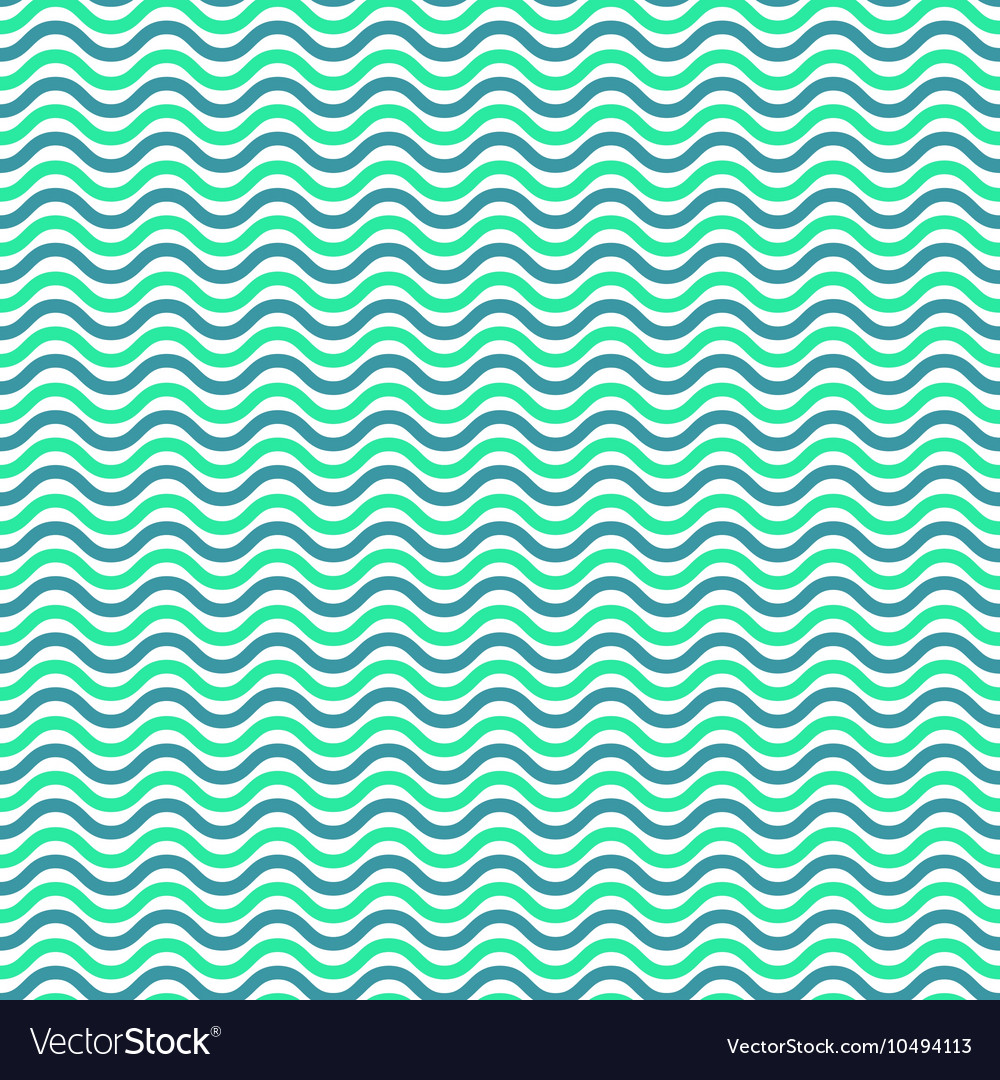 Aqua blue waves seamless pattern vector image