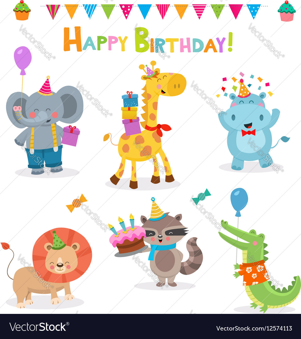 Cute Birthday Animal Collection