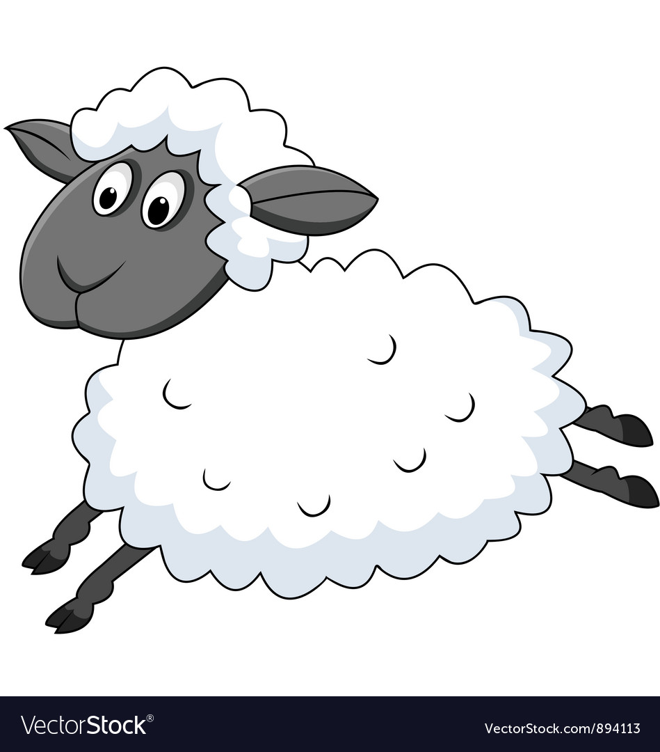cute sheep cartoon royalty free vector image vectorstock Free Clip Art free email clipart animated