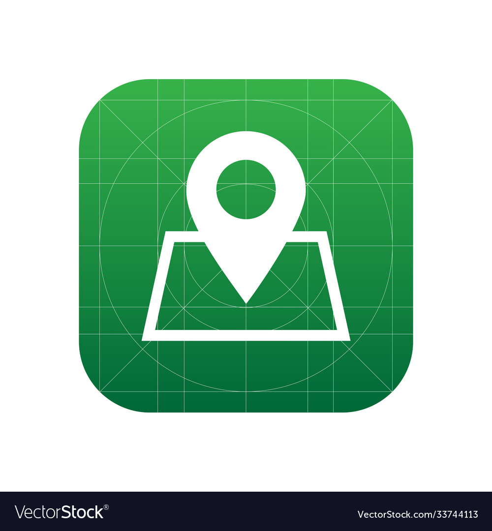 Pin map icon sign icon map symbol flat icon