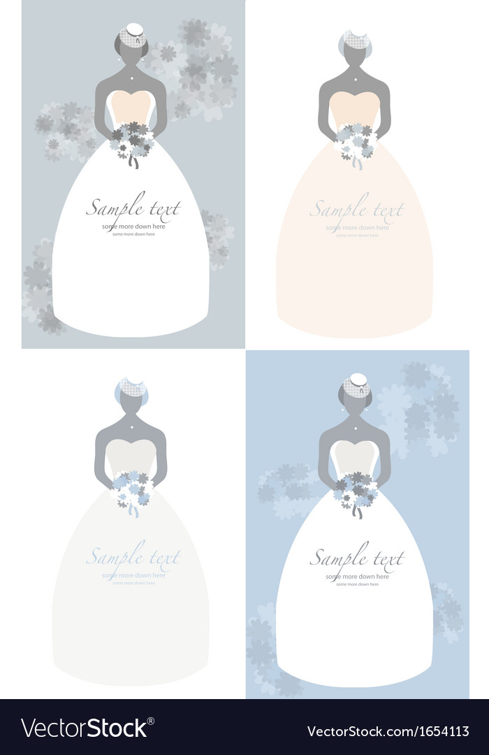 Retro bride background vector image