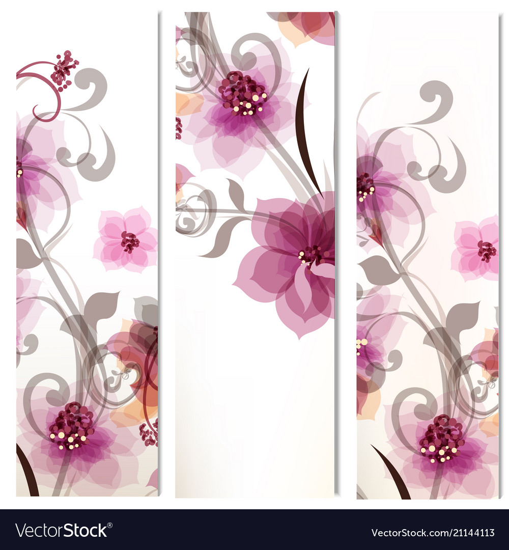 Set of corporate floral identity templates
