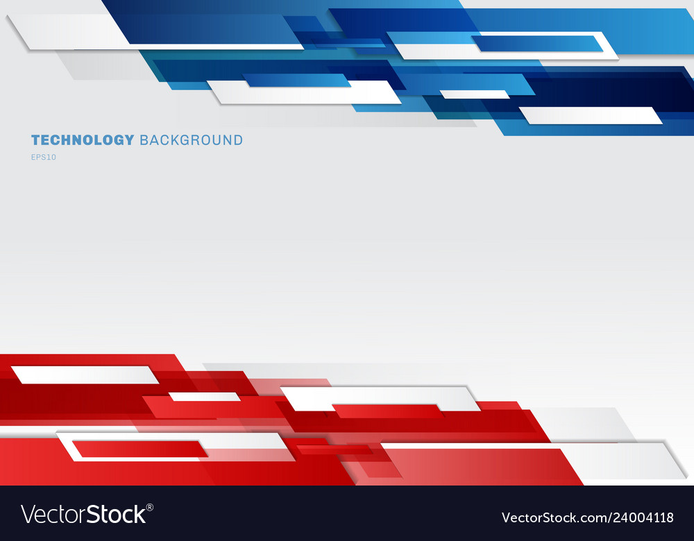 Abstract header blue red and white shiny