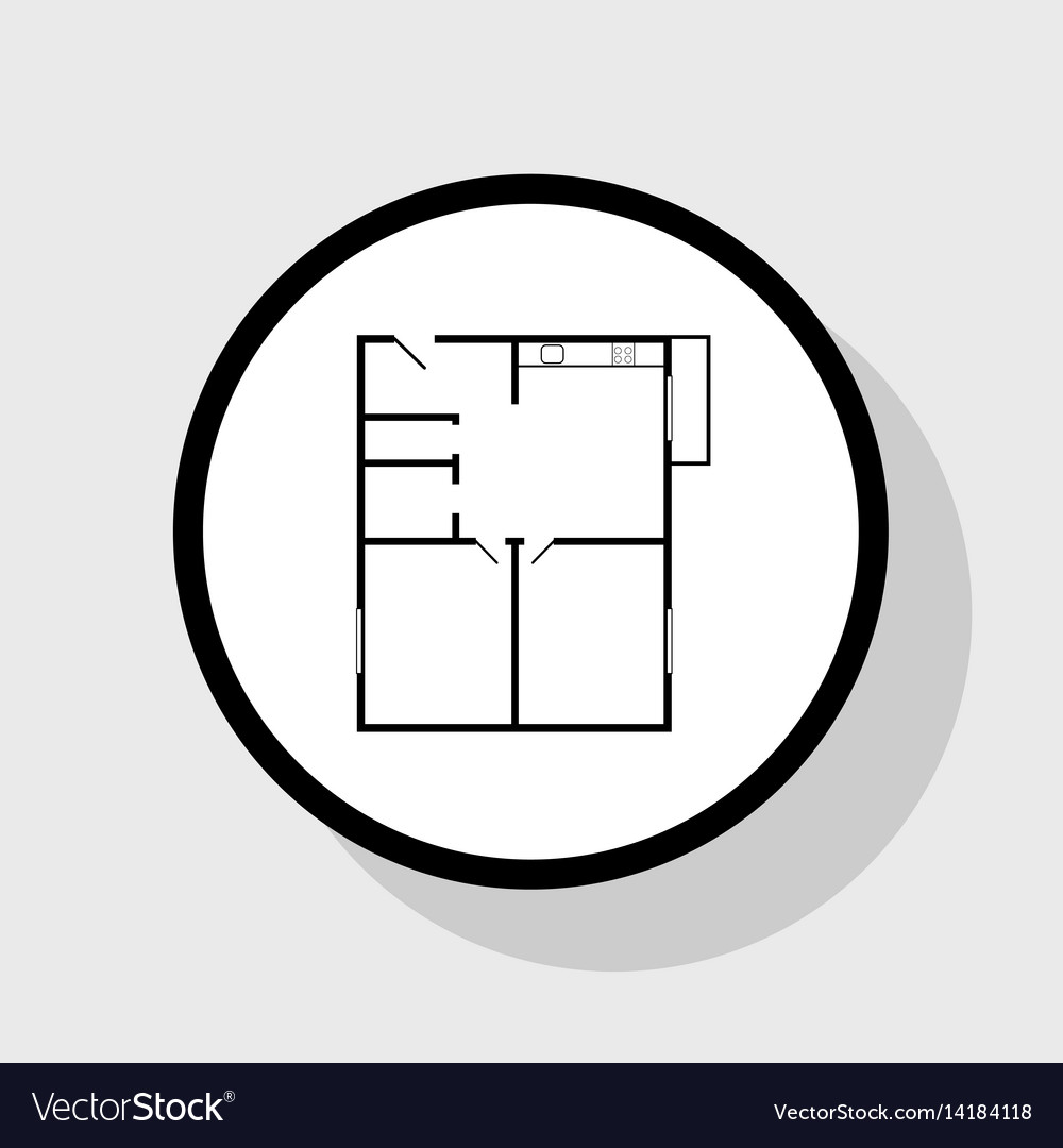 . Apartment house floor plans flat black