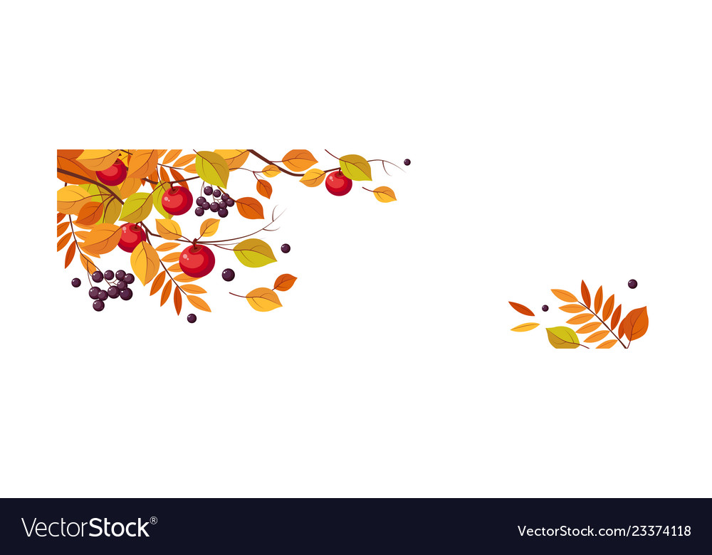 Autumn abstract background with space for text