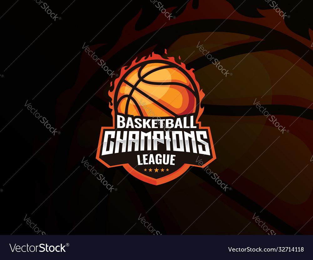 Basketball sport logo design