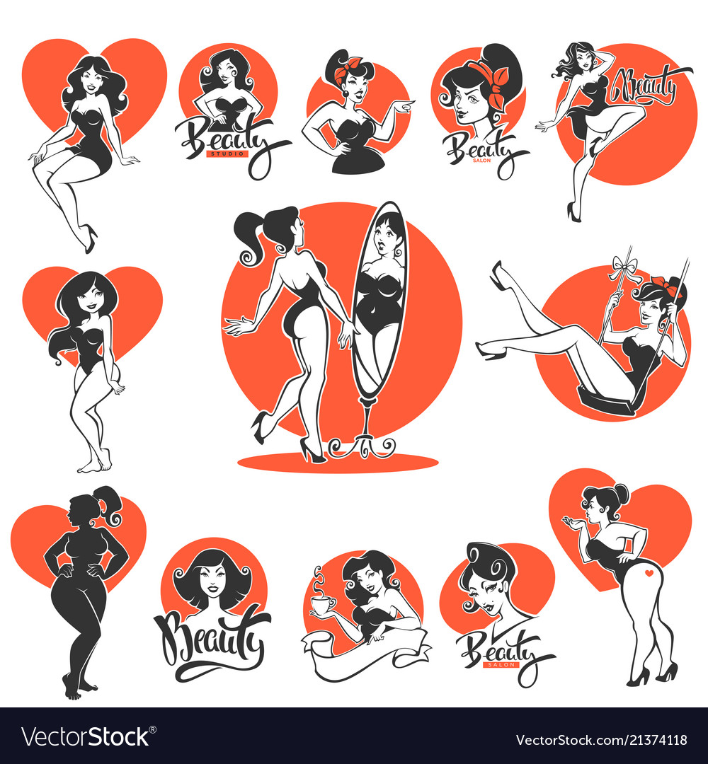 Beauty and sexy large collection of pinup girls