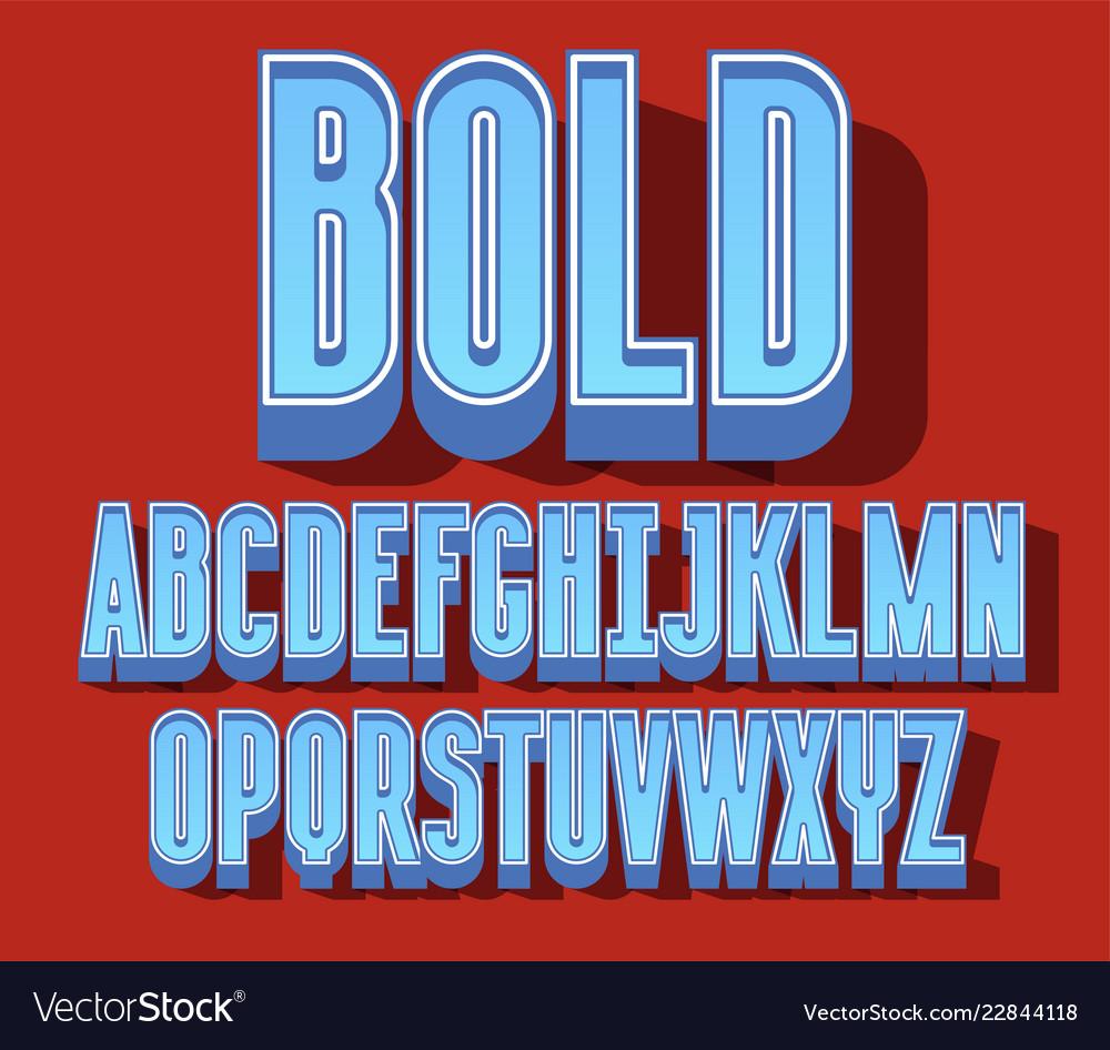 Block bold font