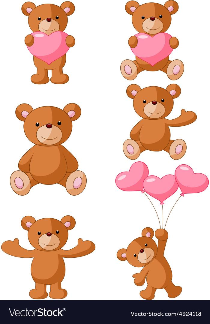 Cartoon Bear with pink love
