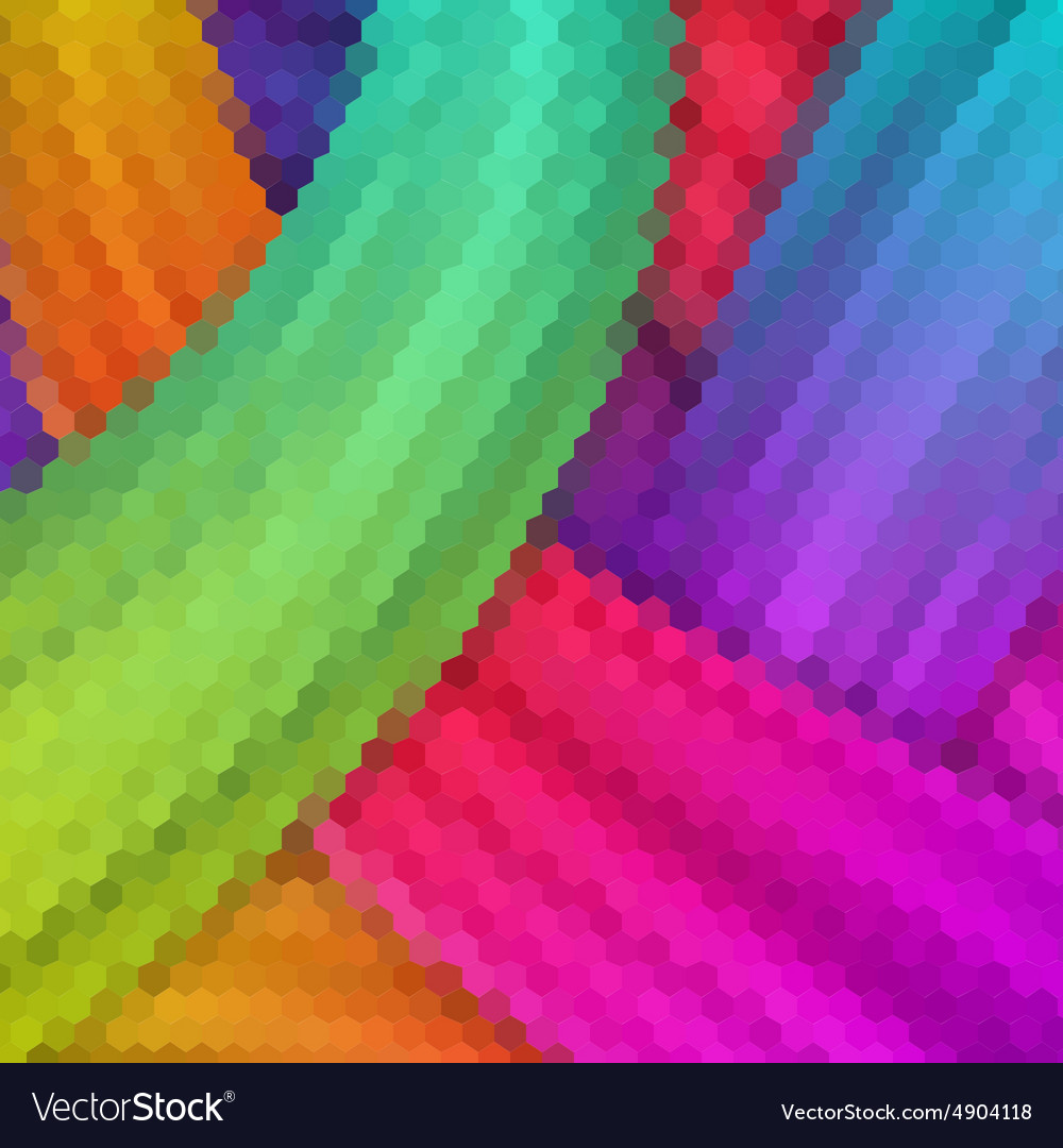 Hexagon color abstract background EPS 10
