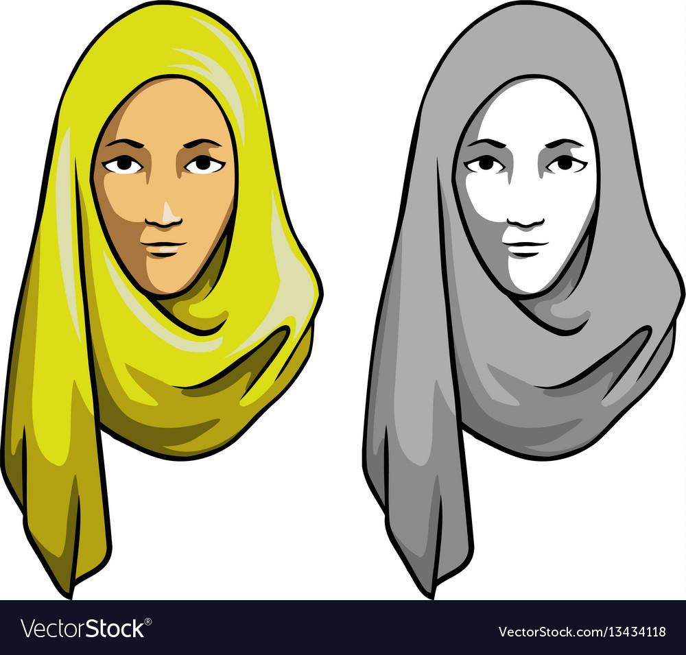 Hijab girl head