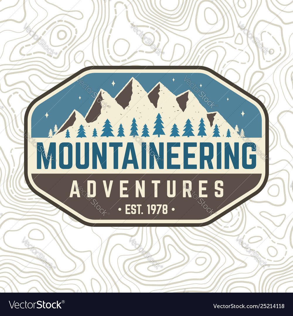 Mountaineering adventure patch concept