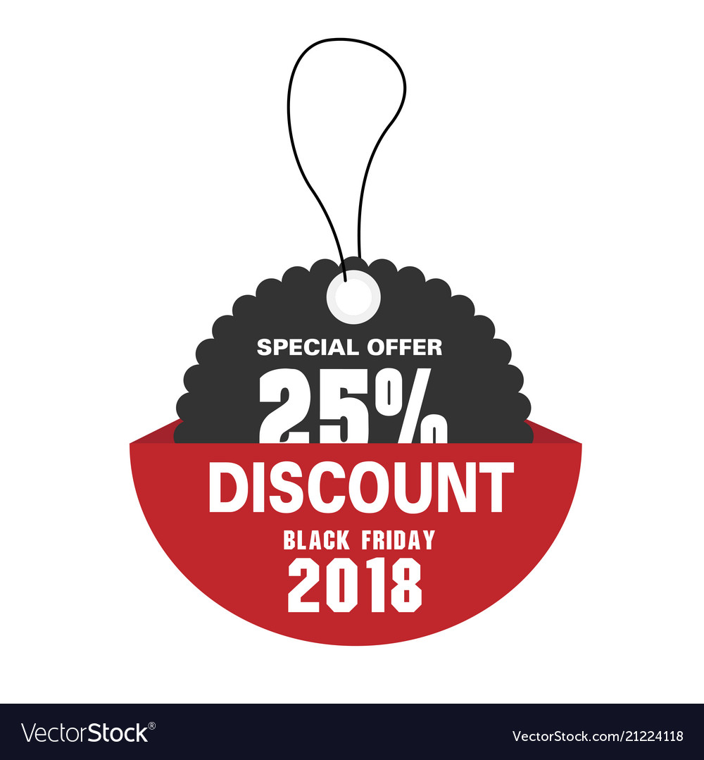 Price tag special offer 25 discount black friday