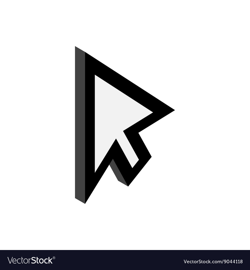 Replacement cursor icon isometric 3d style