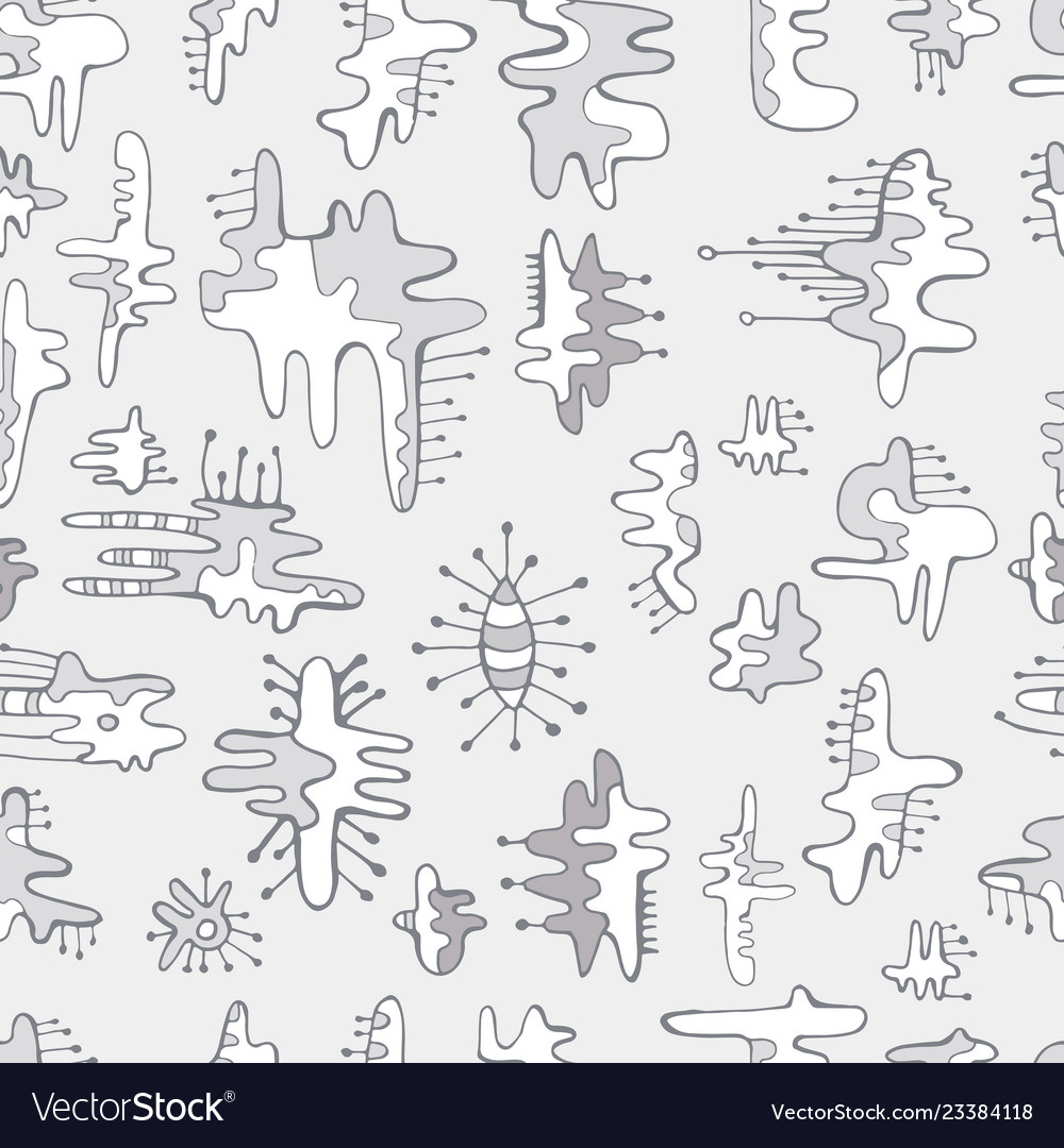Seamless monochrome pattern of abstract design