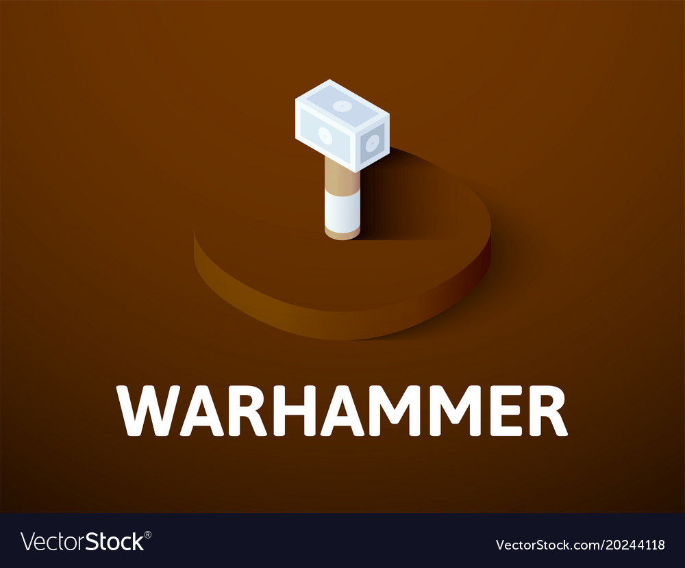 Warhammer isometric icon isolated on color vector image