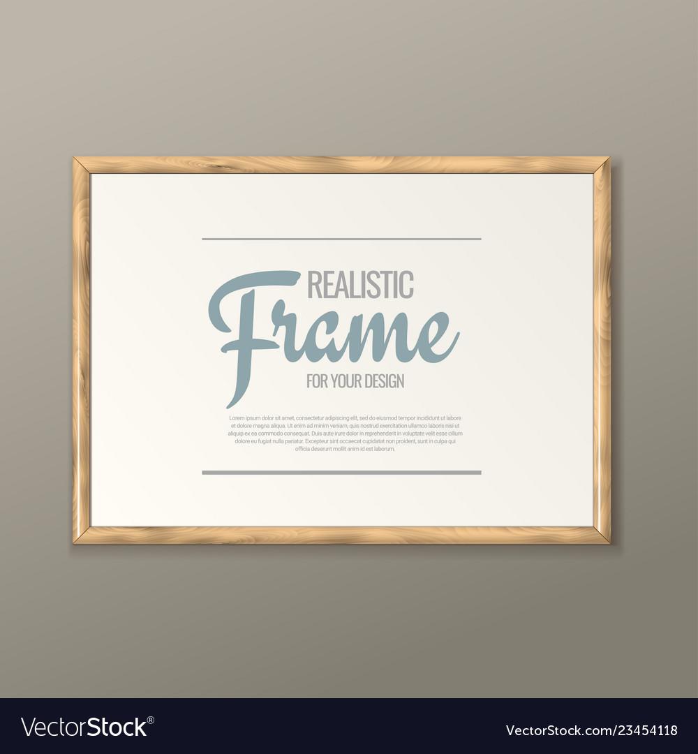 White horizontal frame for paintings