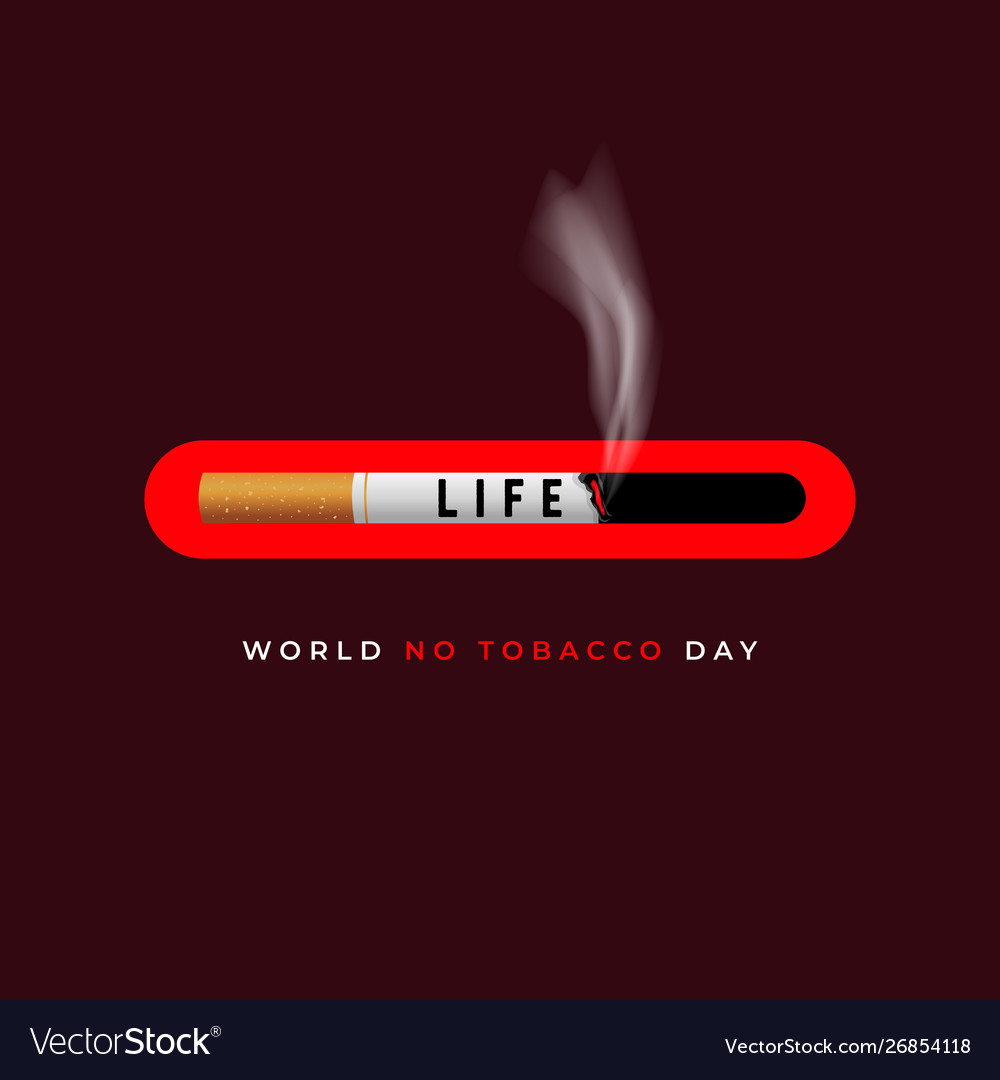 World No Tobacco Day No Smoking Day Banner Vector Image
