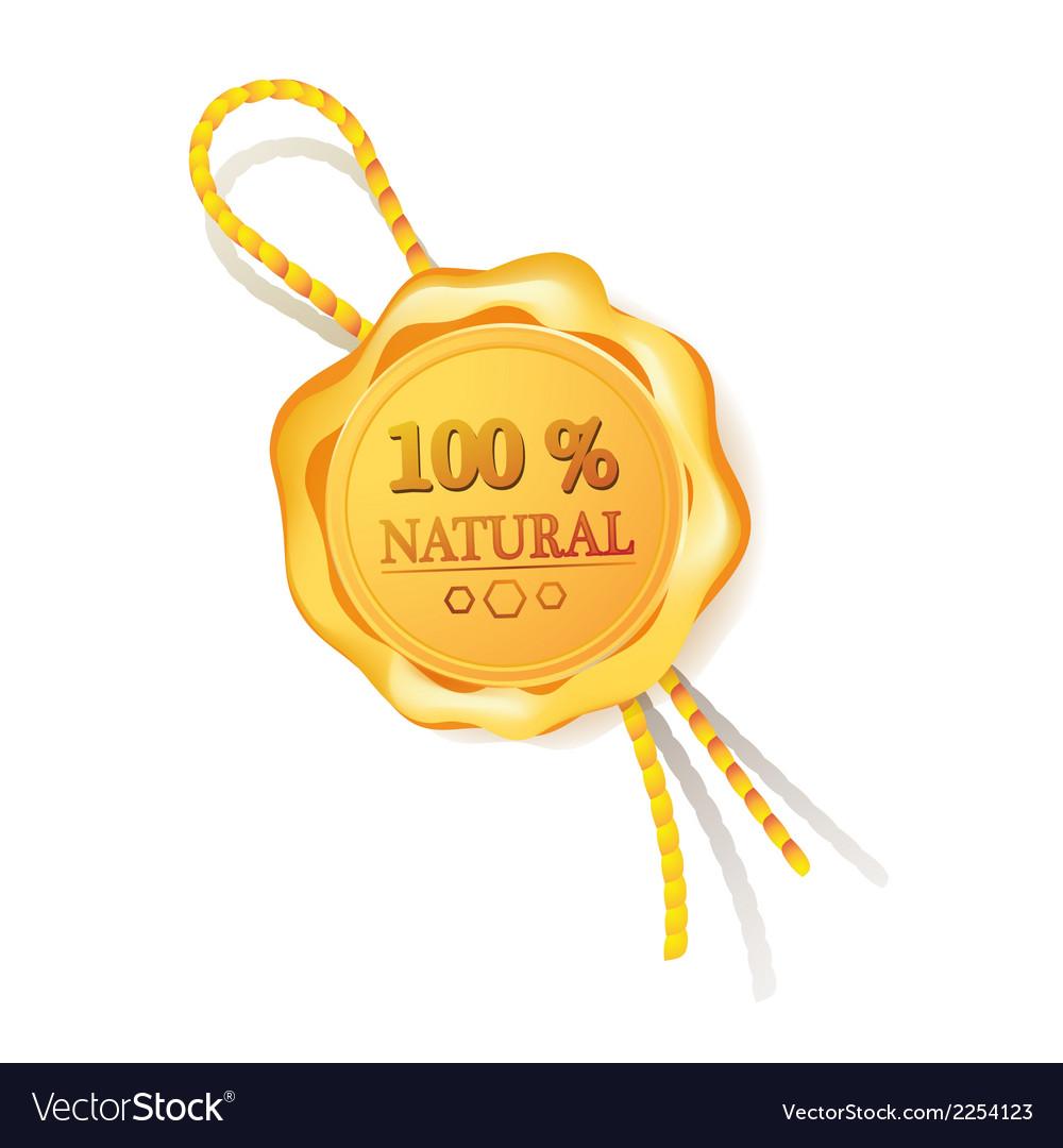 100 natural golden label Stock Photos vector image