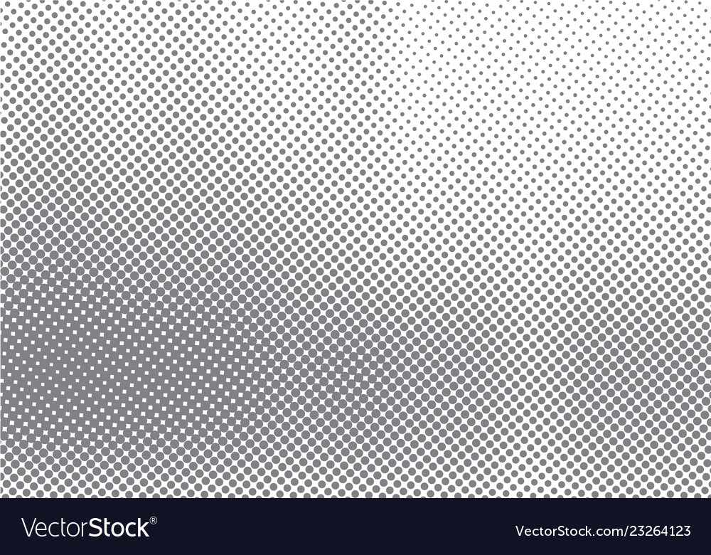 Abstract halftone motion effect with fading dot
