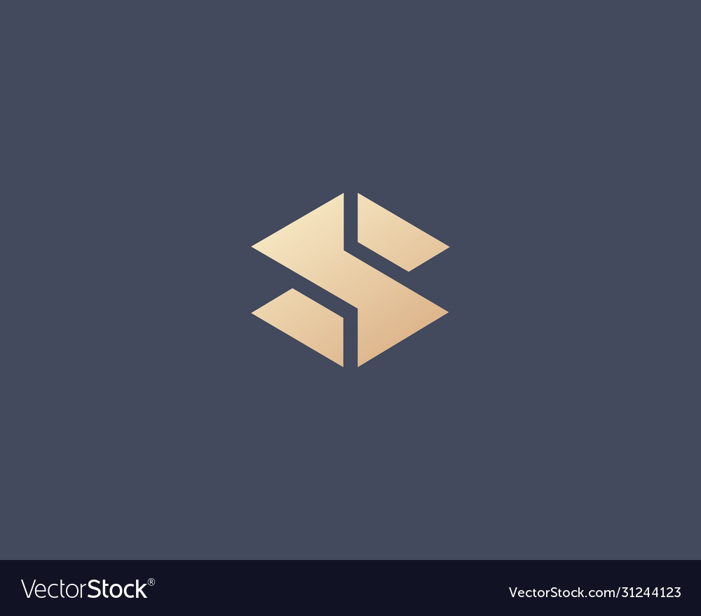 Abstract letter s logo design template creative