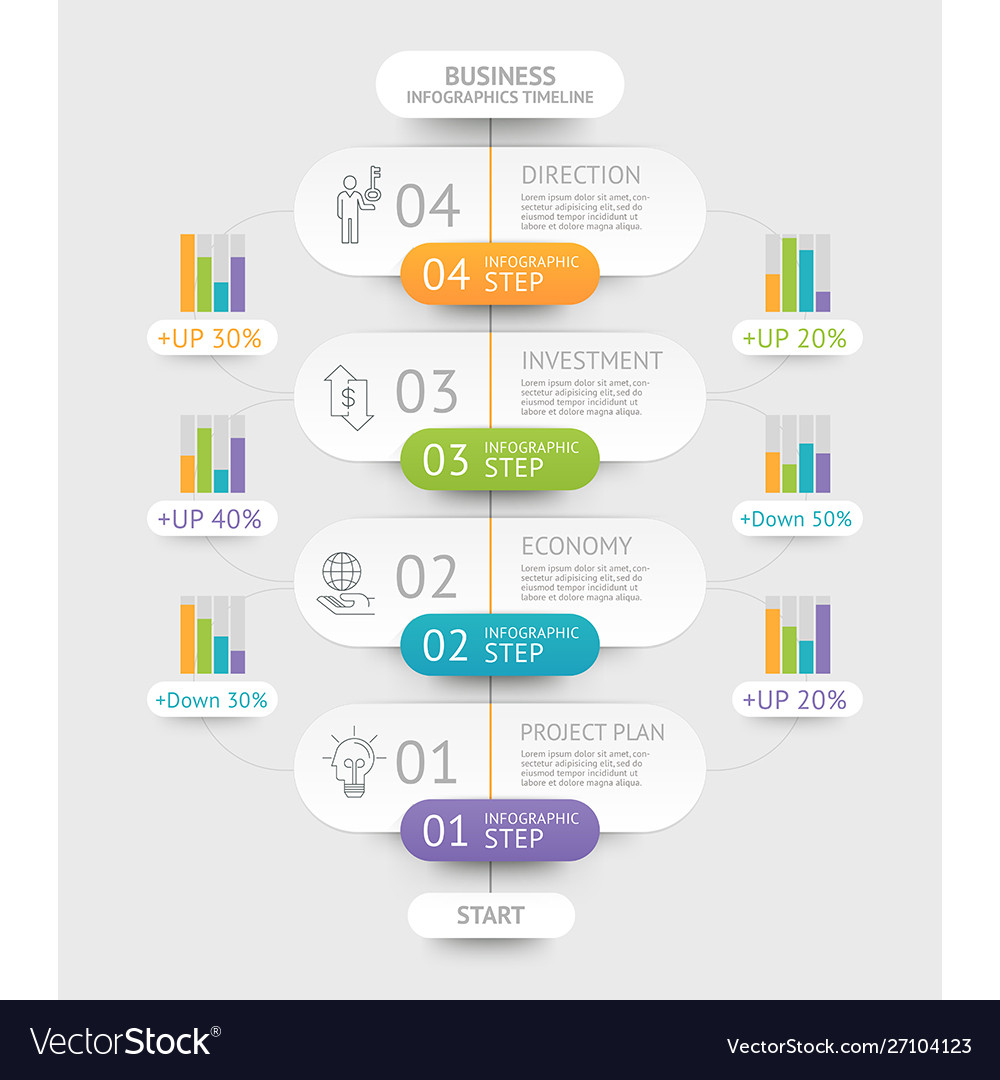 Business infographics template can be used for