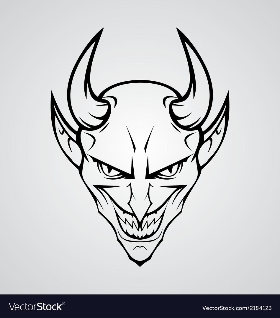 Devil Head vector image