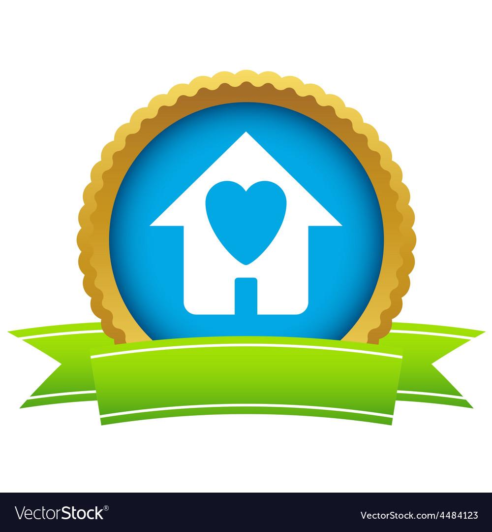 Gold love house logo