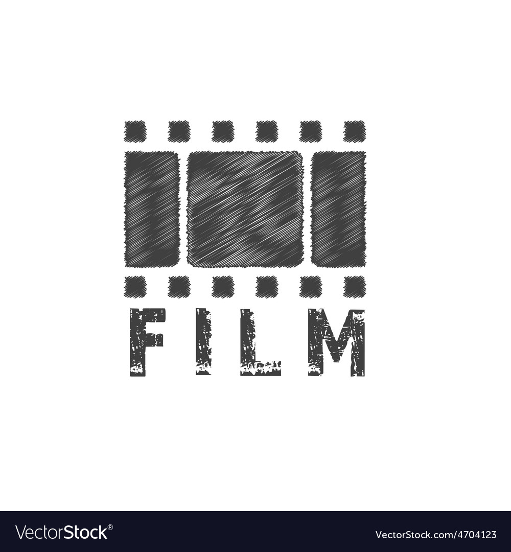 Grunge film tape design template vector image