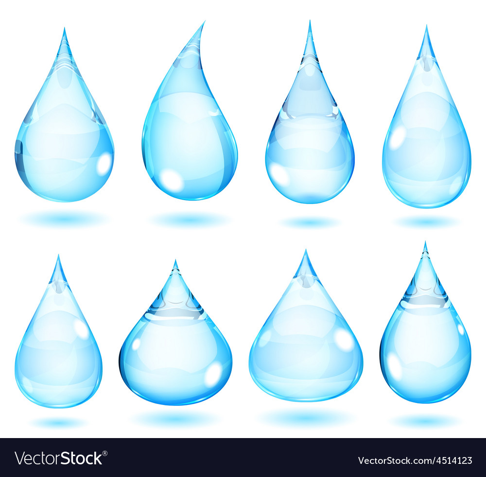 Opaque light blue drops vector image