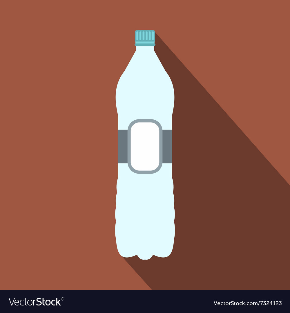 Plastic bottle flat icon