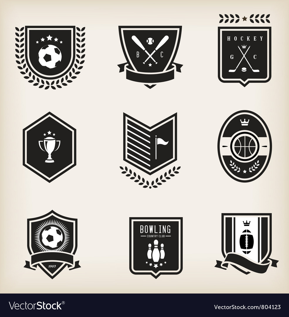 sport emblems royalty free vector image vectorstock