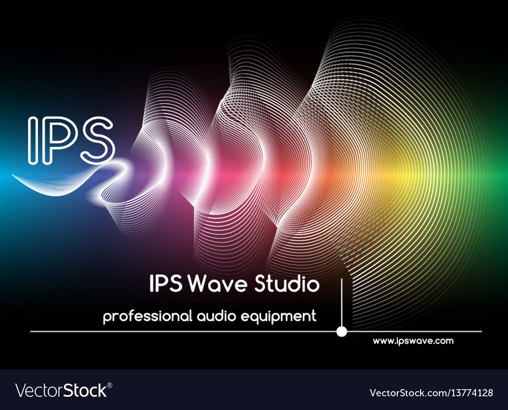 Abstract sound waves background colored wave form