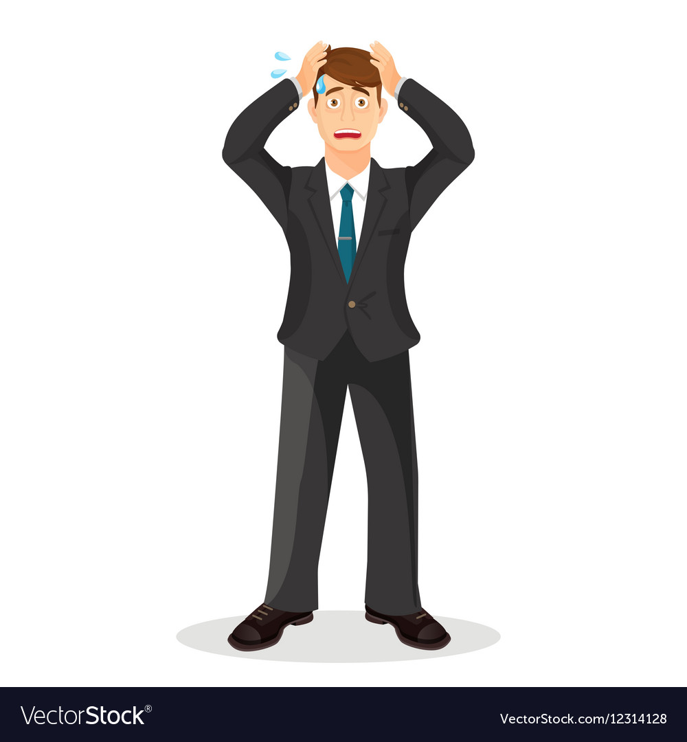 Anxiety person cartoon Anxious and vector image