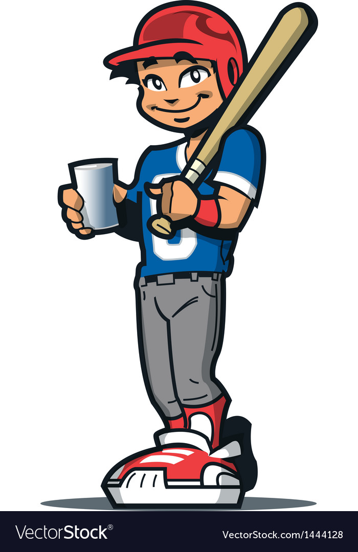 Baseball Player With Drink